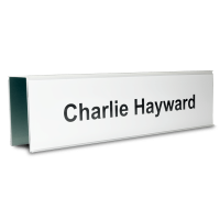 Essential Double Sided Partition Nameplate