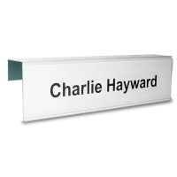 Essential Single Sided Partition Nameplate