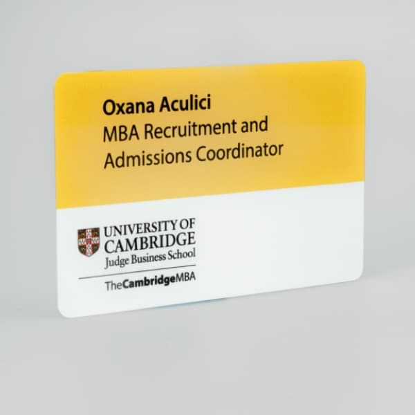 Personalised Badge White Aluminium CMYK Print