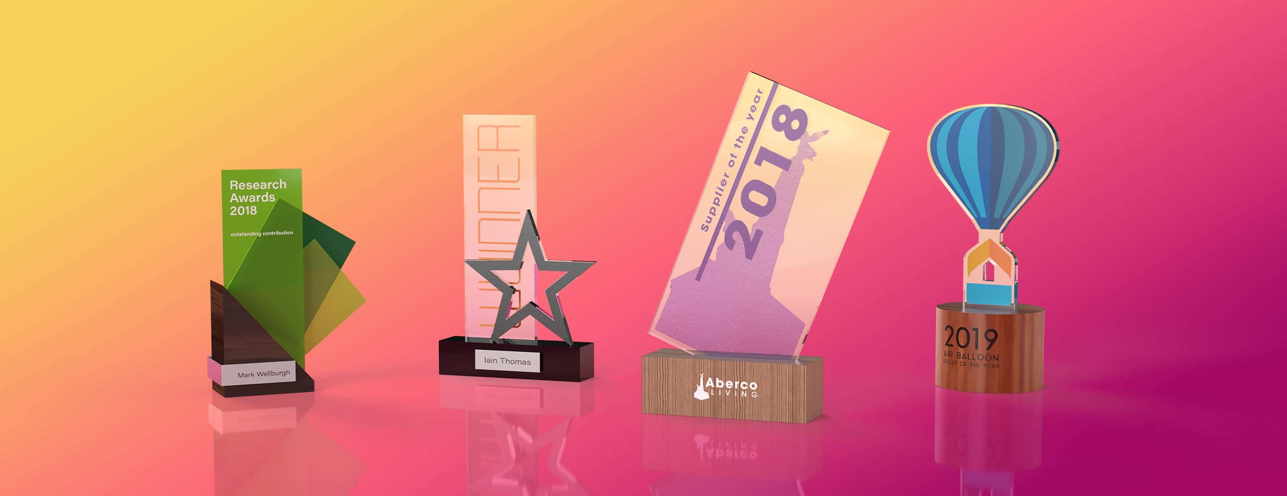 Unique Awards Designed for any occasion