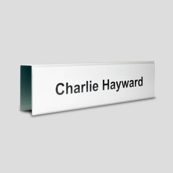 Partition Nameplates single and double sided