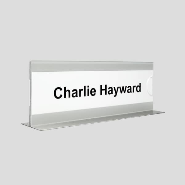 Monitor Top Nameplate Holders