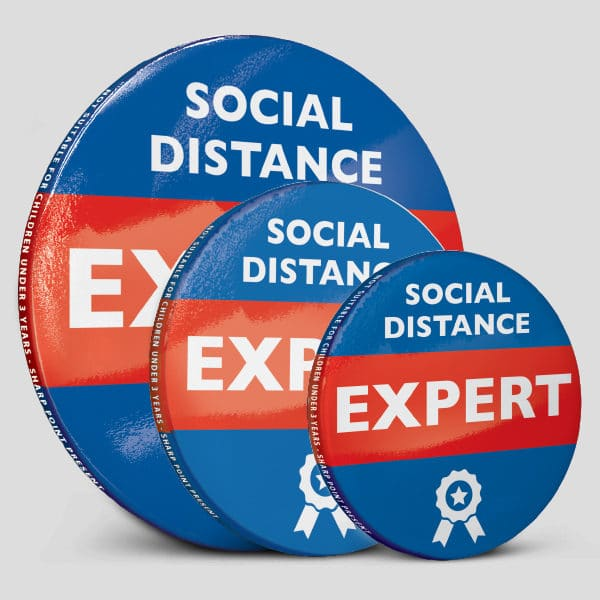 Social Distance Expert Level Badges