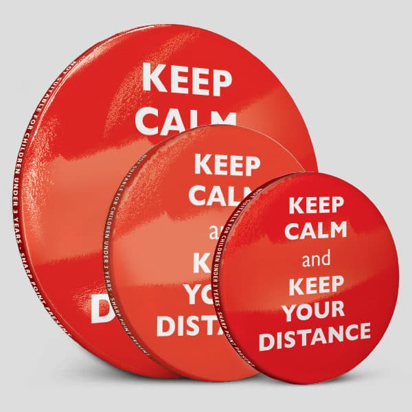 Social Distancing Message Badge Keep Calm