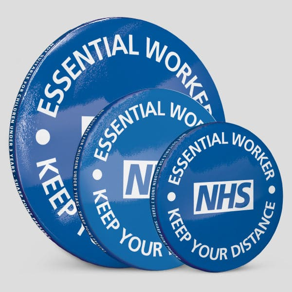 NHS Social Distancing Button Badges